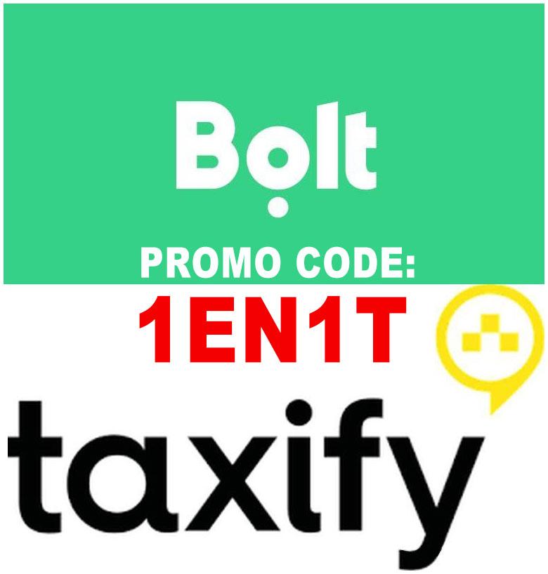 Taxify Promo Code 1EN1T - Cupon, Cod, Voucher Bolt - Gratis prima